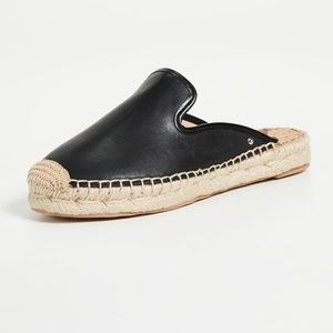 Sam Edelman Black Leather Kerry Mule Espadrille